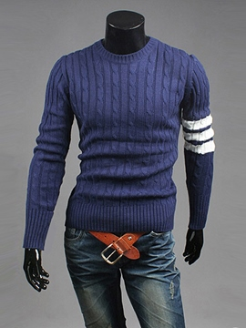 Ericdress Unique Stripe Casual Pullover Men's Knitwear