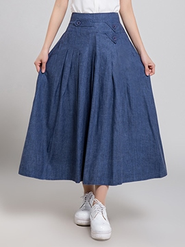 Ericdress Chinese Patoral Pleated Usual Skirt