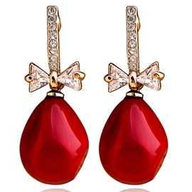 Ericdress Elegant Red Pendant Earrings