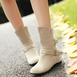Ericdress Charming Buckles Slip on Ankle Boots