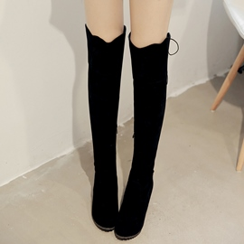 Ericdress Pretty Suede Long Shaft Knee High Boots