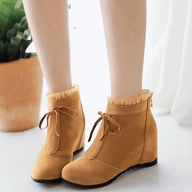 Ericdress Delicate Lace Elevator Heel Ankle Boots