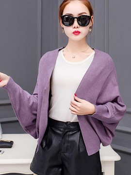 Ericdress Solid Color Batwing Casual Cape