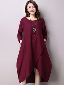 Ericdress Bud Stacked Pocket Casual Dress