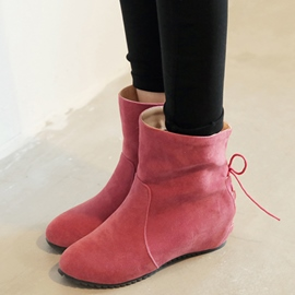 Ericdress Lovely Suede Back Lace up Ankle Boots