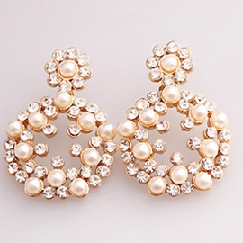 Ericdress Pearl Garland Design Stud Earrings
