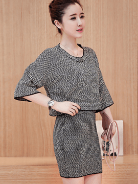 Ericdress Simple Knitted Leisure Suit