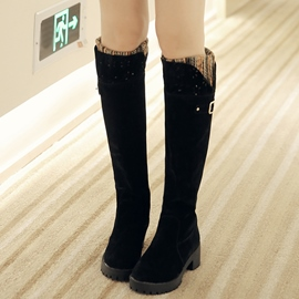 Ericdress Pretty Patchwork Knee High Boots