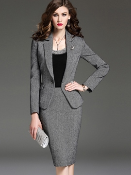 Ericdress OL Lapel Blazer Formal Suit