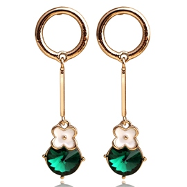 Ericdress Emerald Inlaid Alloy Women's Earrings