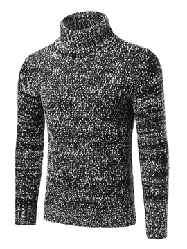 Ericdress Turtleneck Pullover Slim Men's Sweater