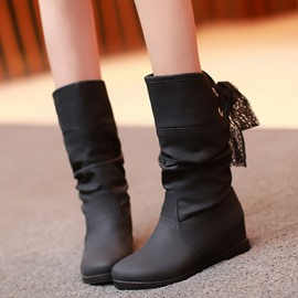 Ericdress Back Lace up Elevator Heel Ankle Boots