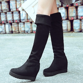 Ericdress Suede Elevator Heel Over Knee High Boots