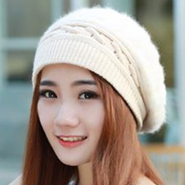 Ericdress Vogue Pure Color Rabbit Hair Beret Hat