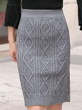 Ericdress Diamond Stripe Printing Bodycon Column Skirt