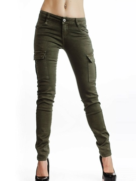 Ericdress Low-Waist Spandex Slim Skinny Pants