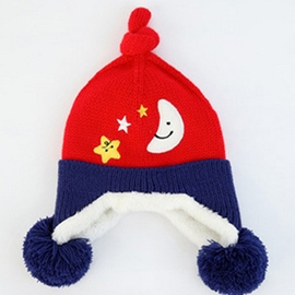 Ericdress Cartoon Stars & Moon Design Kid's Knitted Hat