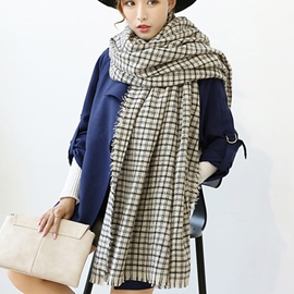 Ericdress Small Lattice Design Cashmere Scarf
