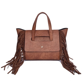Ericdres Simple Temperament Tassel Handbag