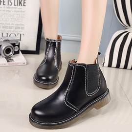 Ericdress Simple Black Martin Boots