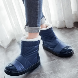 Ericdress Chic Patchwork Snow Boots