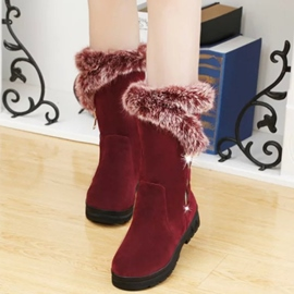 Ericdress Fur Mid Calf Snow Boots