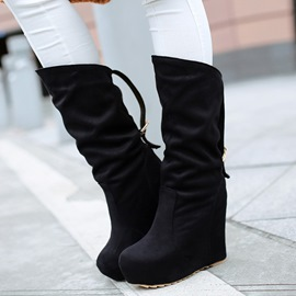 Ericdress Popular Platform Wedge Heel Knee High Boots