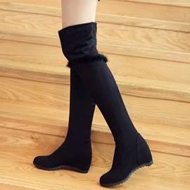 Ericdress Charming Furry Knee High Boots