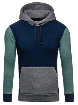 Ericdress Color Block Casual Pullover Men's Hoodie