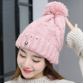 Ericdress Pure Color Warm Woolen Yarn Hat