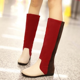 Ericdress Contrast Color Knee High Boots