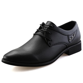 Ericdress PU Rivets Point Toe Men's Oxfords