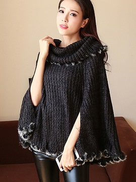 Ericdress Solid Color Caped Knitwear