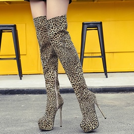 Ericdress Leopard Platform Knee High Boots