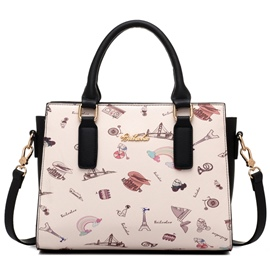 Ericdress Big Capacity Print Handbag