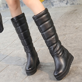 Ericdress PU Slip on Knee High Boots