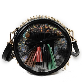 Ericdress Stylish Rivets Tassel Crossbody Bag