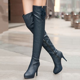 Ericdress Sexy PU Stiletto Heel Over Knee High Boots
