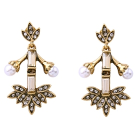 Ericdress Pearl Leaf Women Earrings