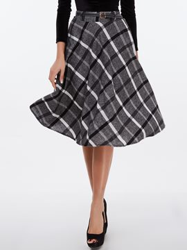 Ericdress Vintage A-Line Usual Skirt