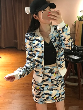 Ericdress Casual Camouflage Print Leisure Suit