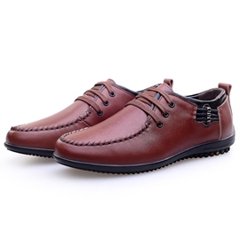 Ericdress Trendy Solid Color PU Men's Oxfords