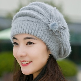 Ericdress Graceful Rabbit Hair Knitted Beret Hat