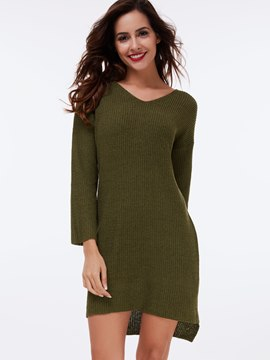 Ericdress Dip Hem Backless Knitwear