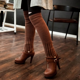 Ericdress Kintting Patchwork High Heel Boots