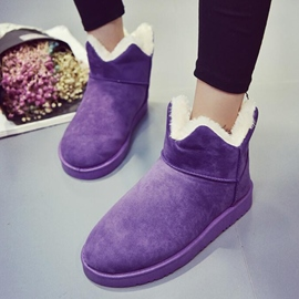 Ericdress Warm Candy Color Snow Boots