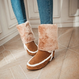 Ericdress Warm Furry Flat Snow Boots