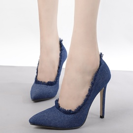 Ericdress Elegant Denim Point Toe Pumps