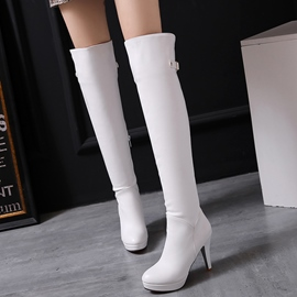 Ericdress Charming PU Platform Thigh High Boots