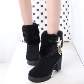 Ericdress Pretty Rhinestone Tassels Ankle Boots